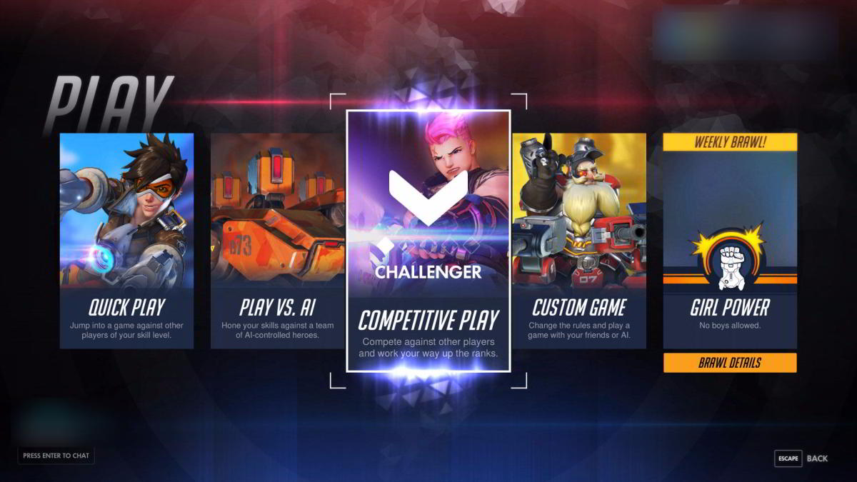 Overwatch matchmaking rules