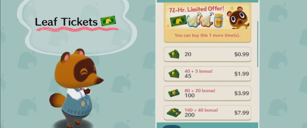 Tom Nook S Pocket Camp Leaf Tickets Are A Threat To Humanity