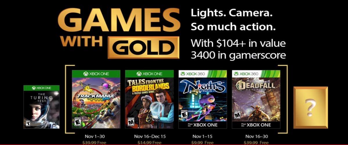 Xbox Gold November