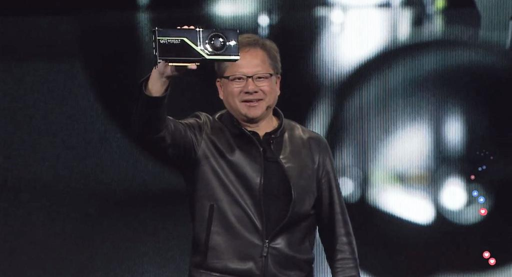 Nvidia Quadro Rtx World S First Ray Tracing Gpu Unveiled By Man Wearing An Amazing Leather Jacket Shacknews