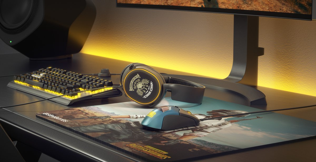 5d8e6844d00 SteelSeries' limited-edition PUBG gear includes branded headsets,  keyboards, and mice