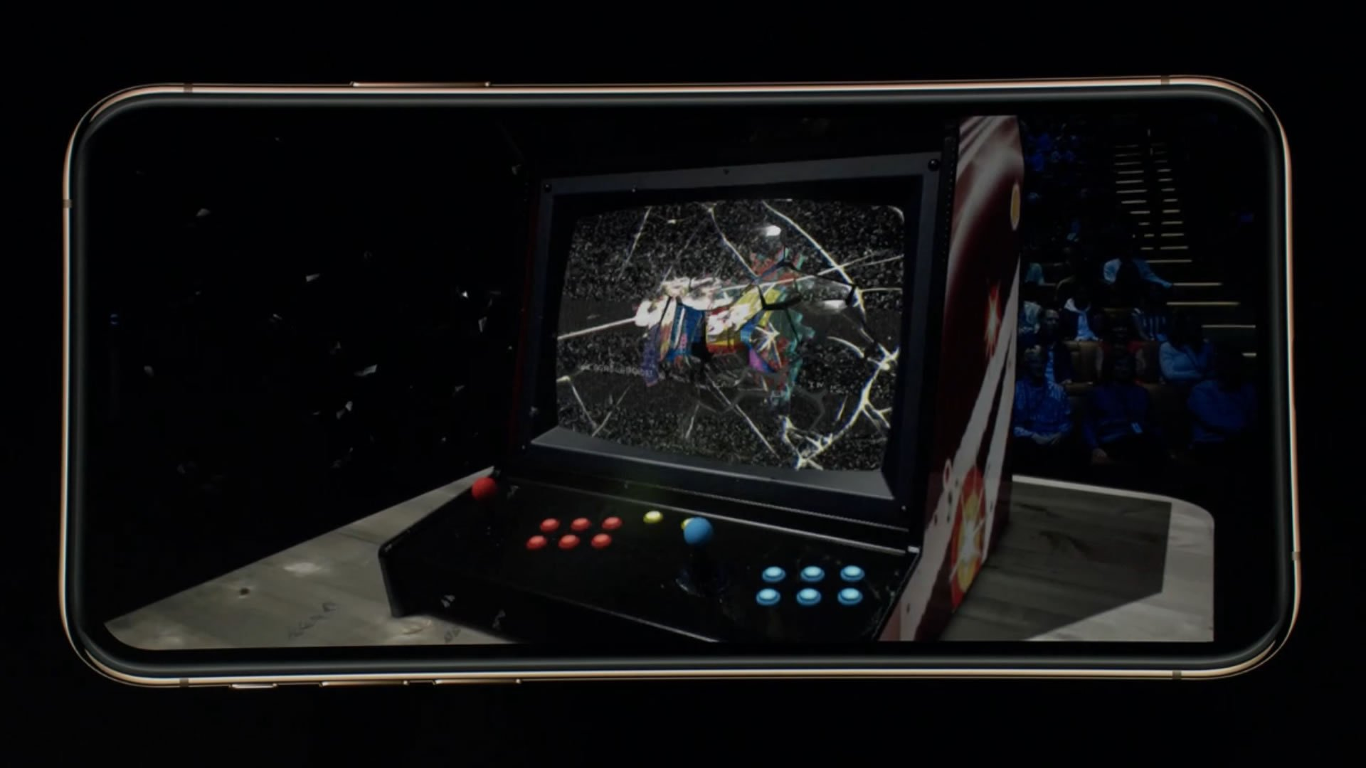 Multiplayer AR Galaga demo shown at Apple Special Event by Directive