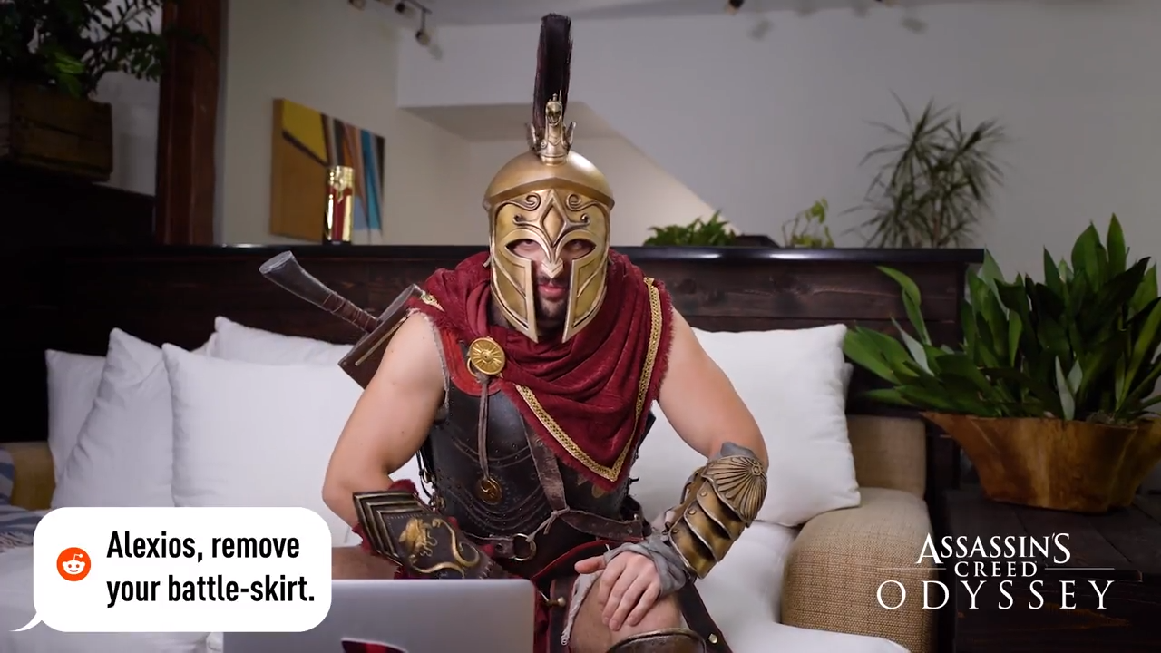 Hilarious Assassin S Creed Odyssey Ad Sees Alexios Responding To