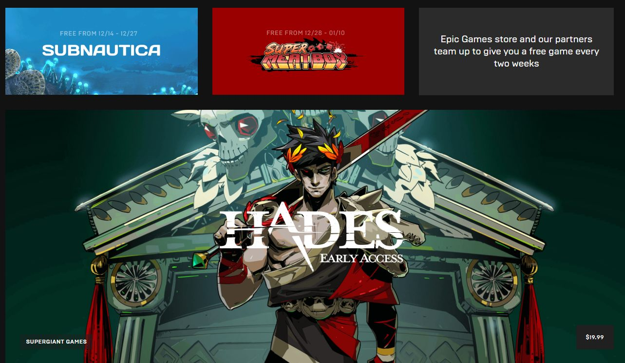 Epic Games Store live now with new releases Hades and Ashen
