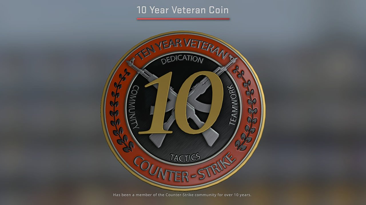 CSGO update adds 10 Year Veteran Coin & Militia this winter