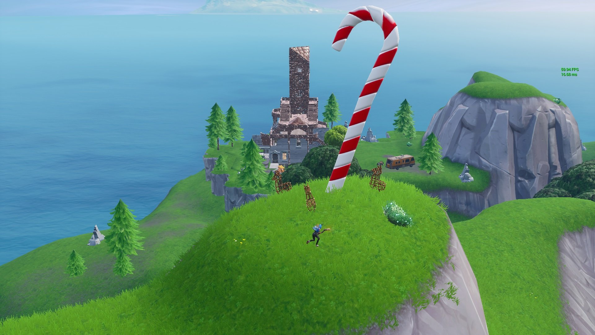 Giant Candy Cane Locations In Fortnite Shacknews