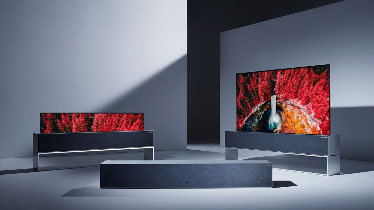 ces 2019 lg 39 s rollable 4k oled tv debuts this year. Black Bedroom Furniture Sets. Home Design Ideas