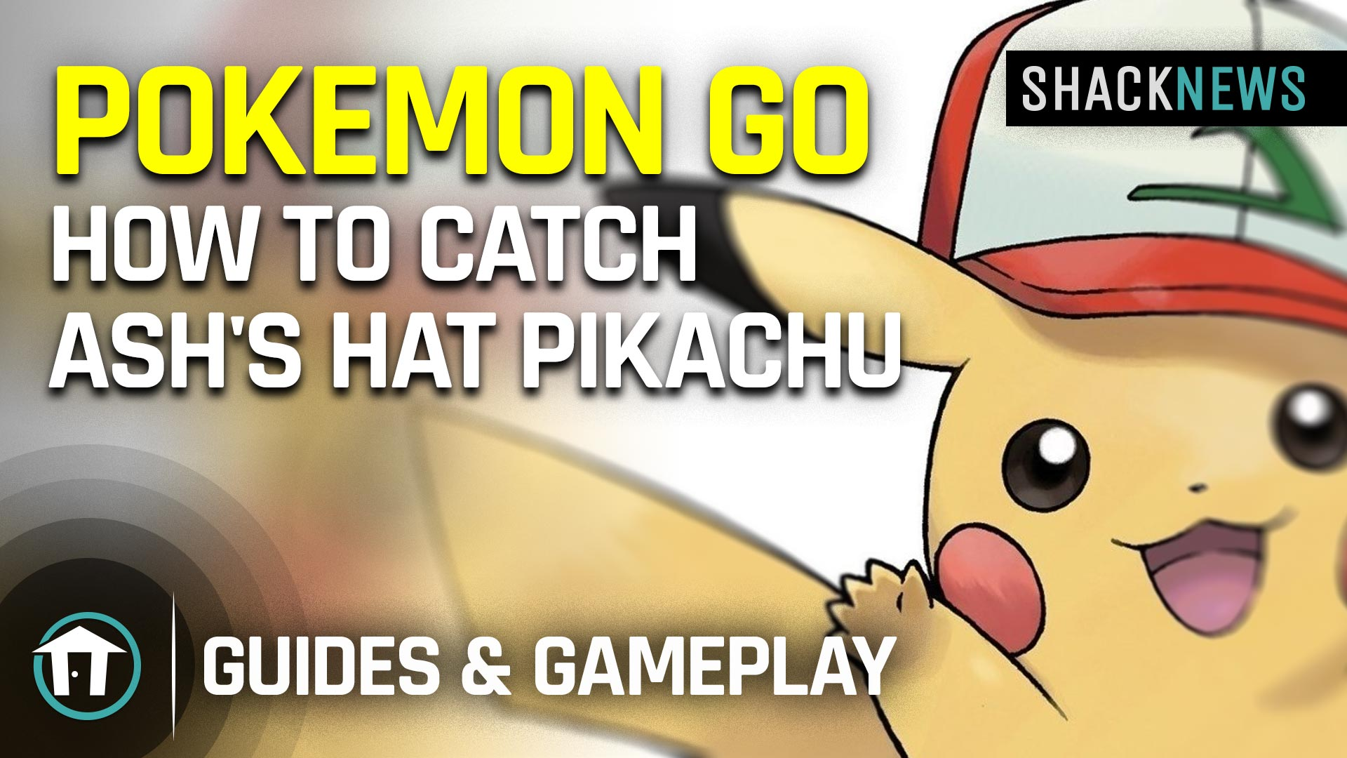 Catch Pikachu wearing Ash's hat using Pokemon Go Snapshot
