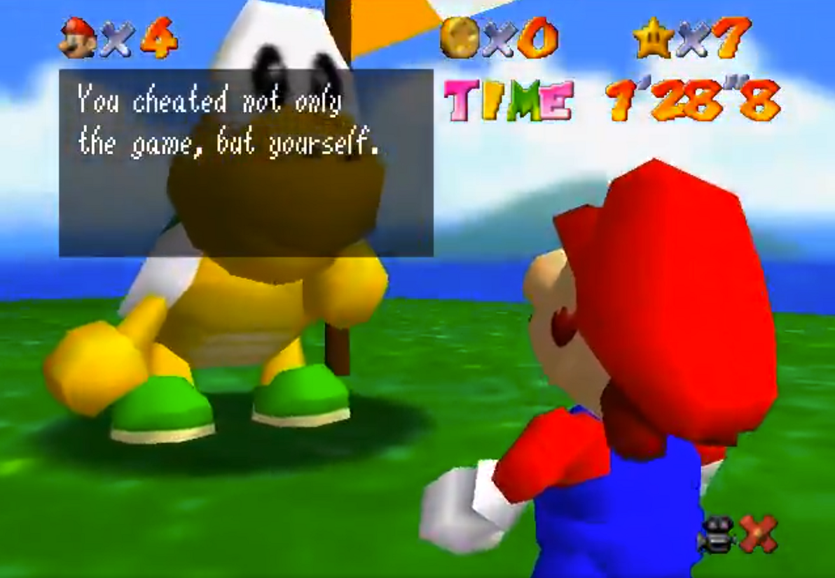 You Cheated Not Only The Game, But Yourself - YouTube