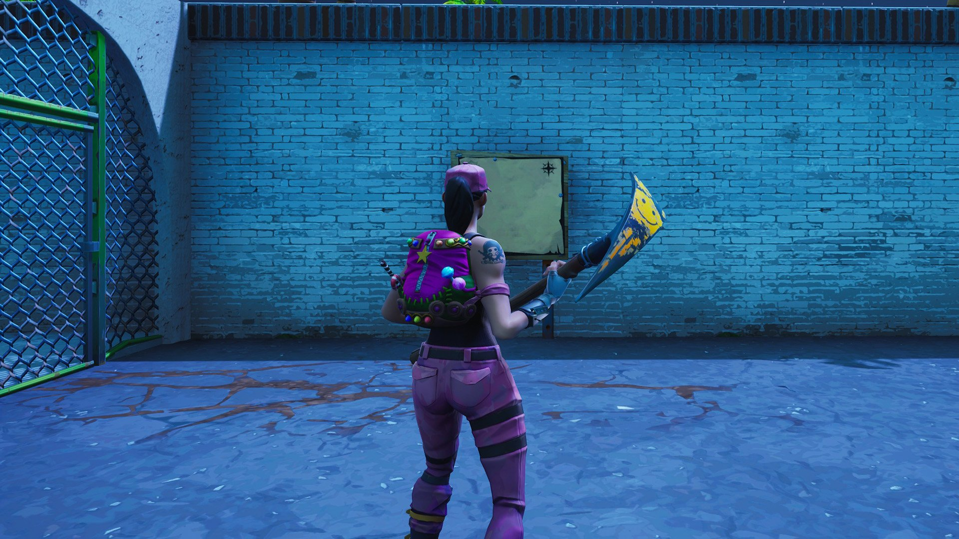 guide - search the treasure map signpost found in paradise palms in fortnite battle royale