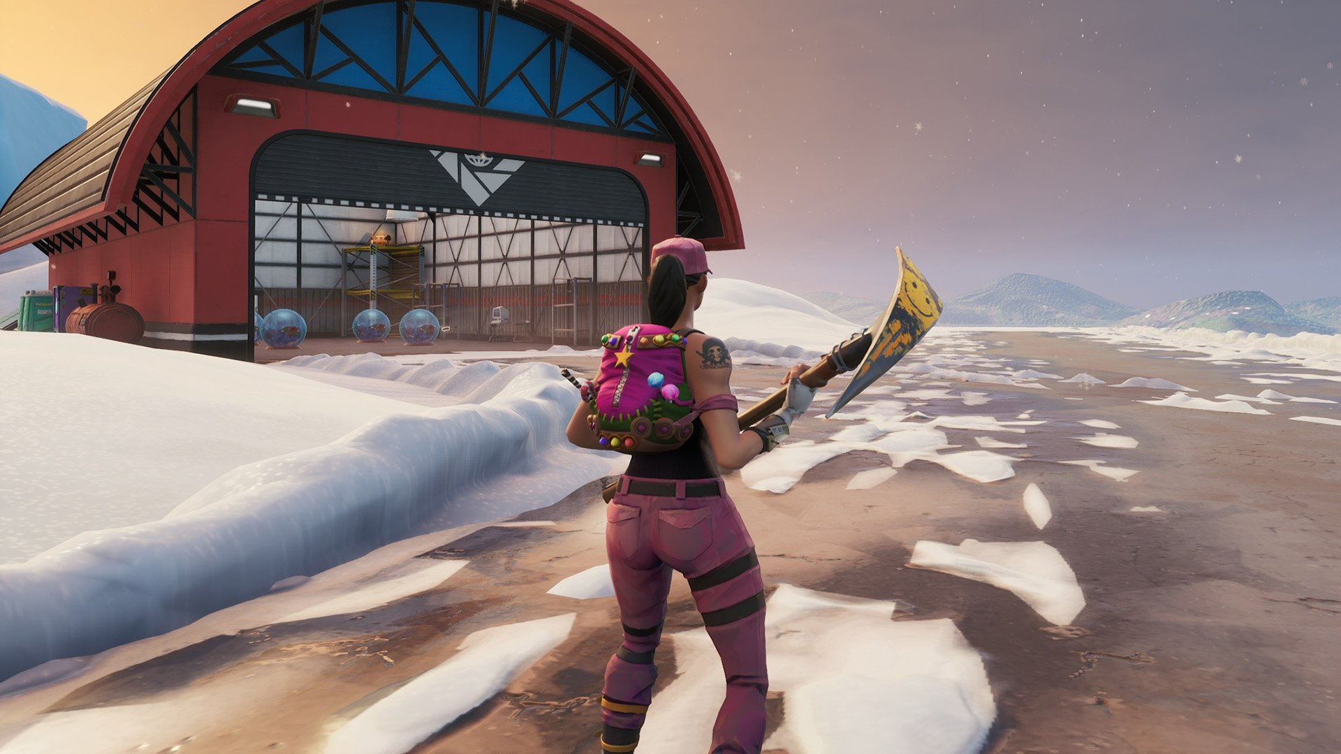 where is the treasure map signpost in paradise palms