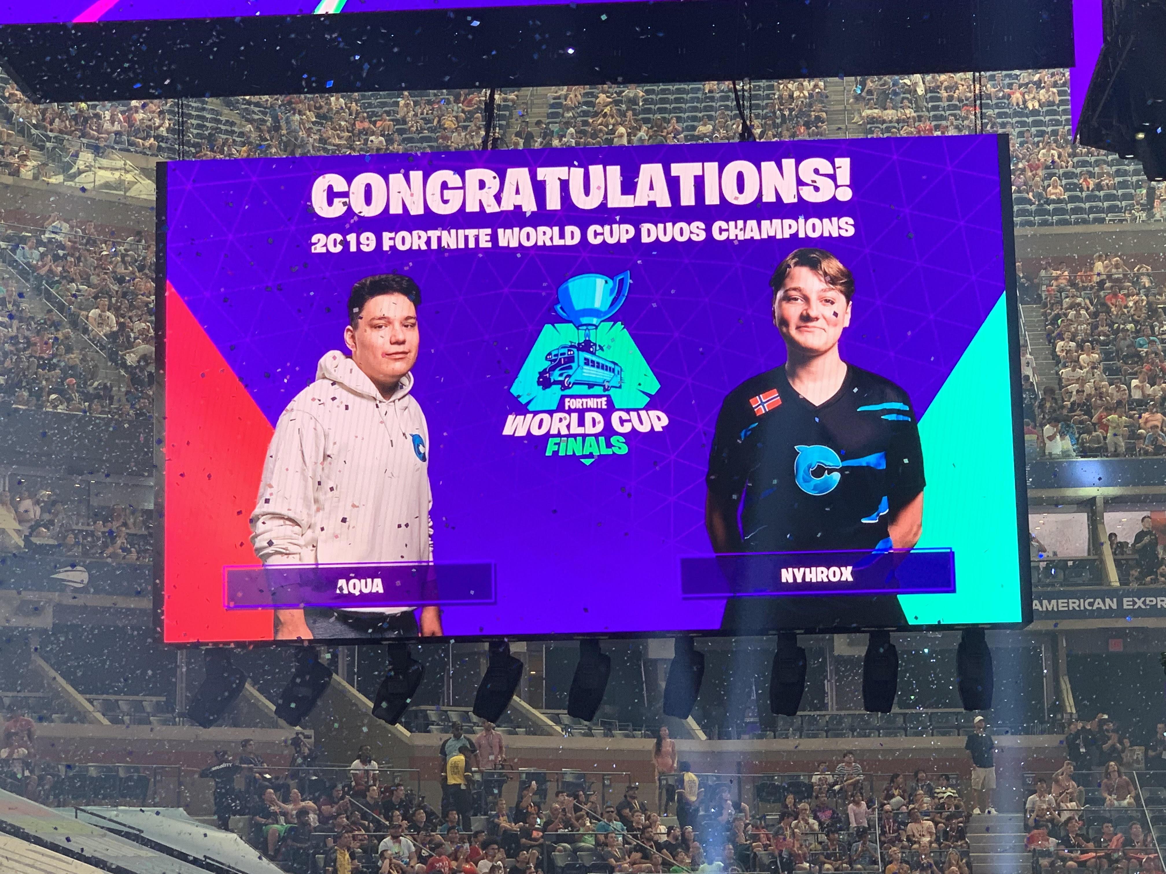 Aqua And Nyhrox Win The Fortnite Duos World Cup Shacknews