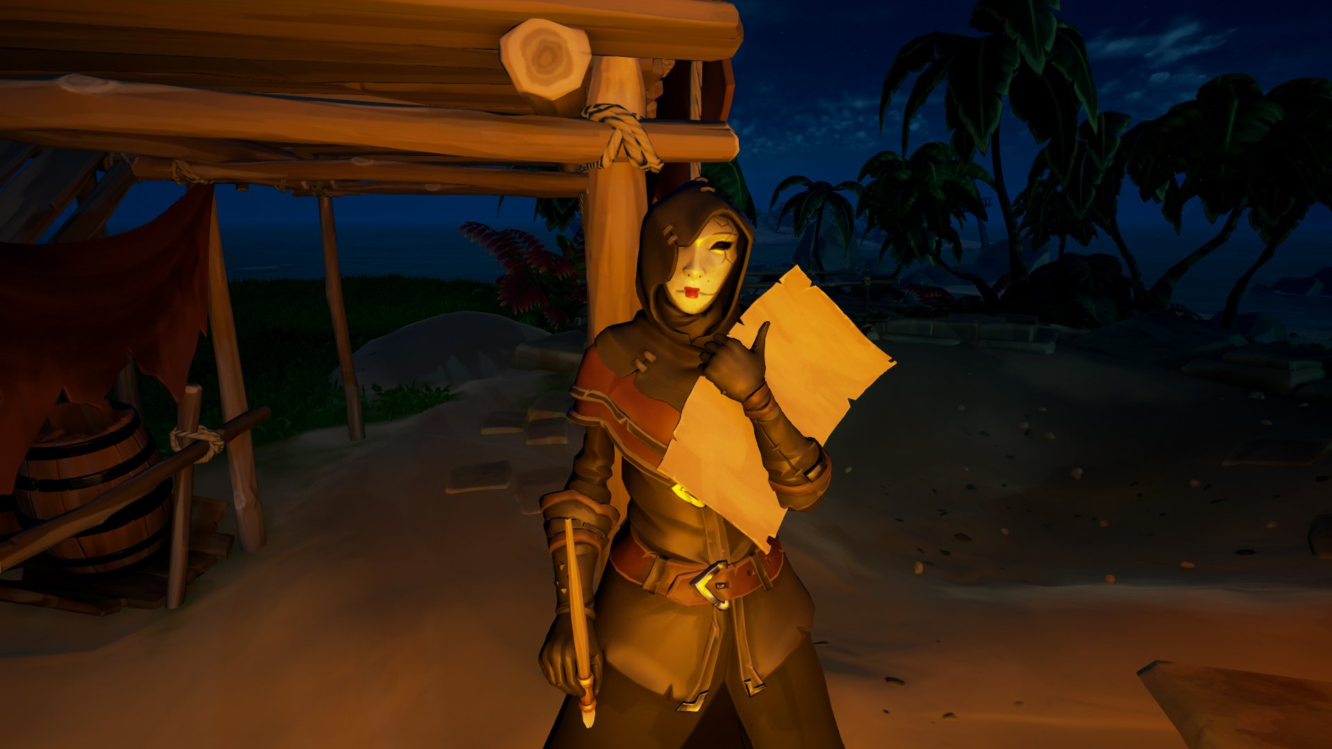 Masked Stranger in Sea of Thieves
