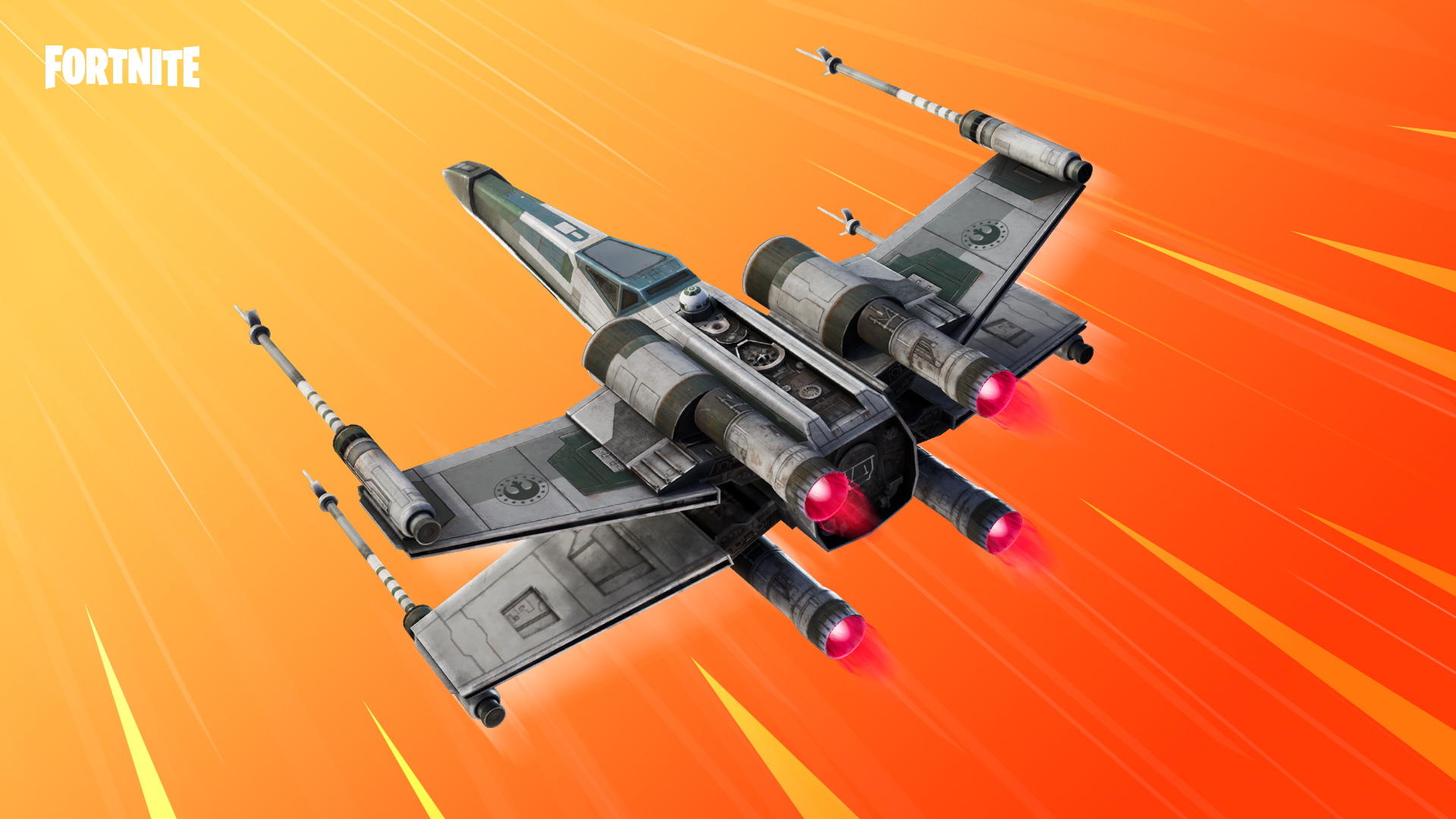 x wing glider comes to fortnite with star wars crossover feature