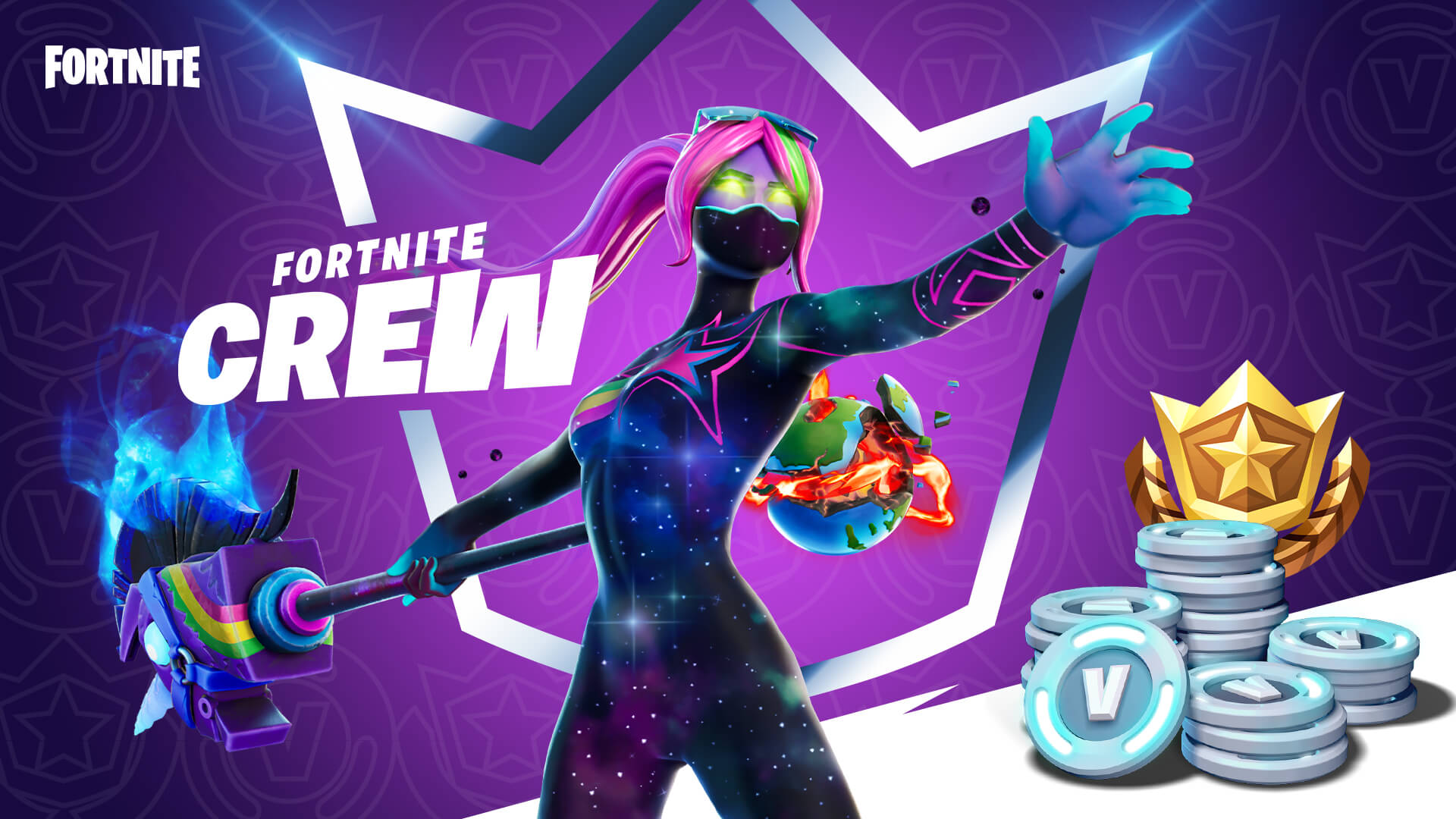 Fortnite Crew Subscription Service Offers Monthly Cosmetics And V Bucks Shacknews Tons of awesome fortnite logo wallpapers to download for free. fortnite crew subscription service