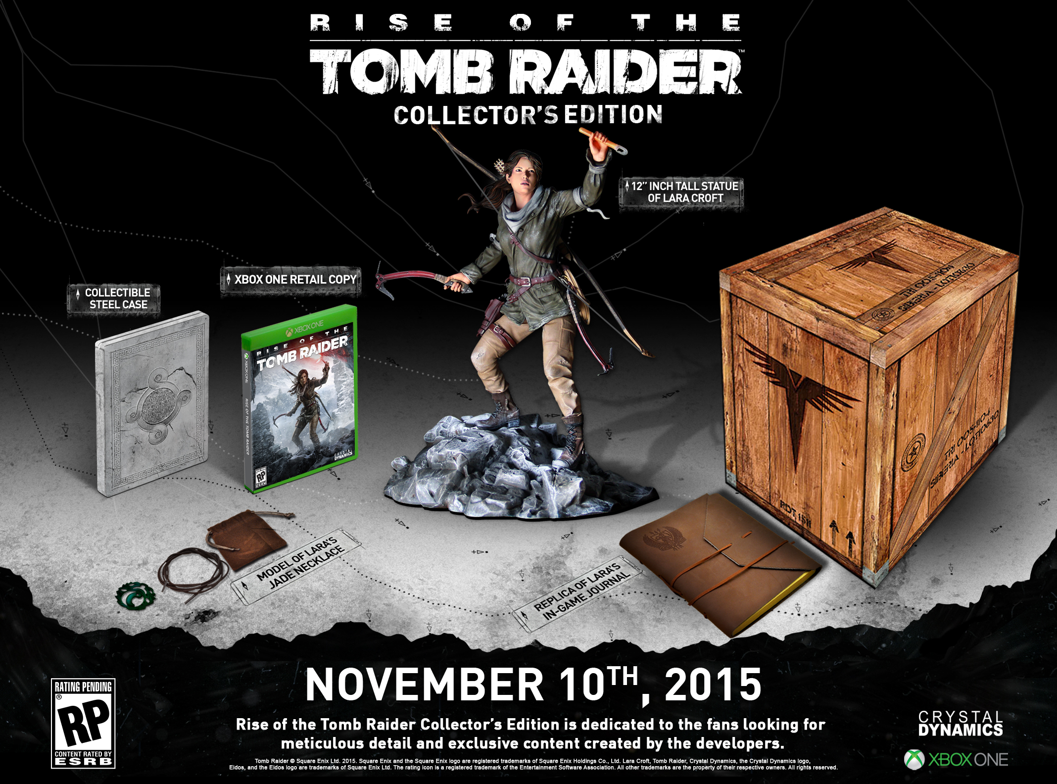 Rise Of The Tomb Raider Collectors Edition Features Lara Croft Sony Ps4 No Word Yet If This Will Also Be Available For Pc And Playstation 4 Versions