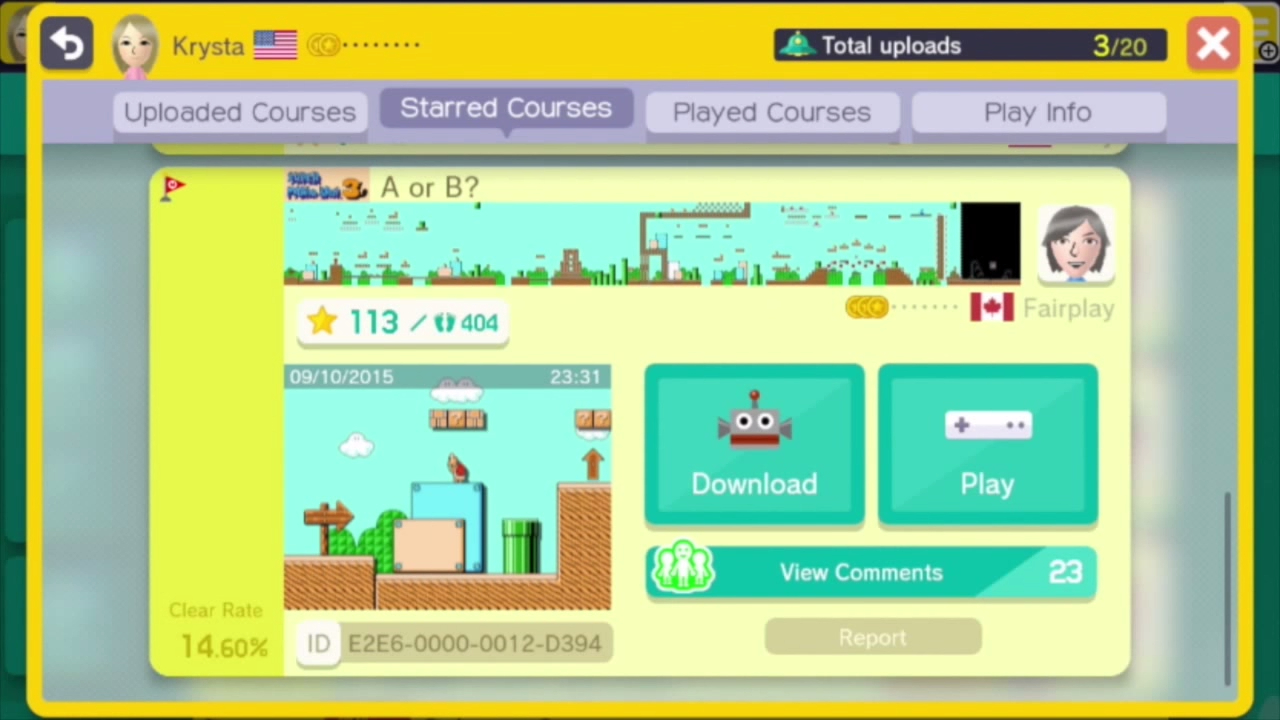 Super Mario Maker SUP-tember video spotlights four courses worth