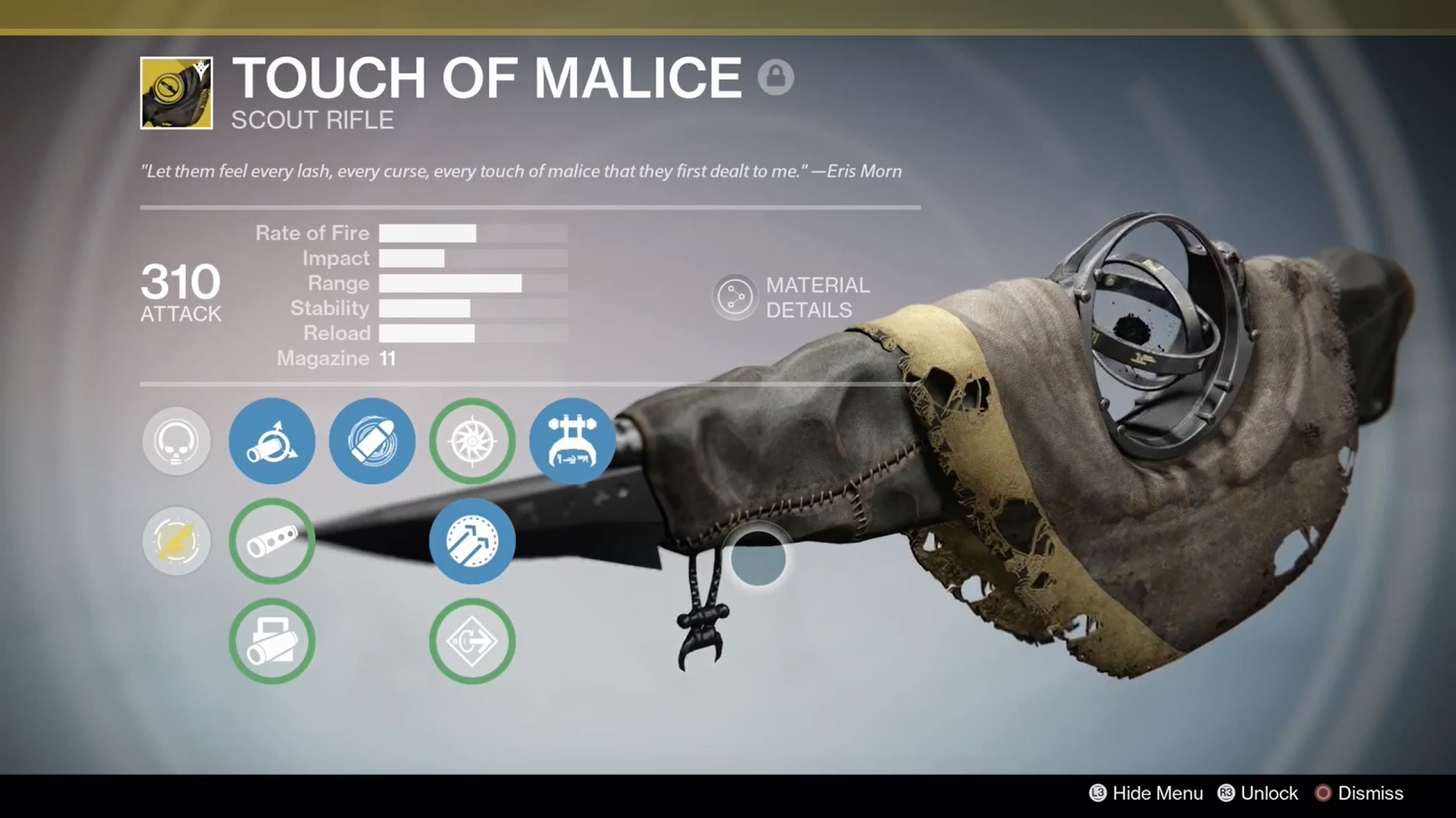Touch of Malice Perks