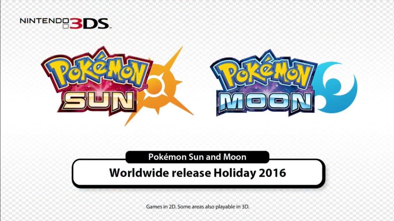 pokemon sun and moon officially announced via nintendo direct