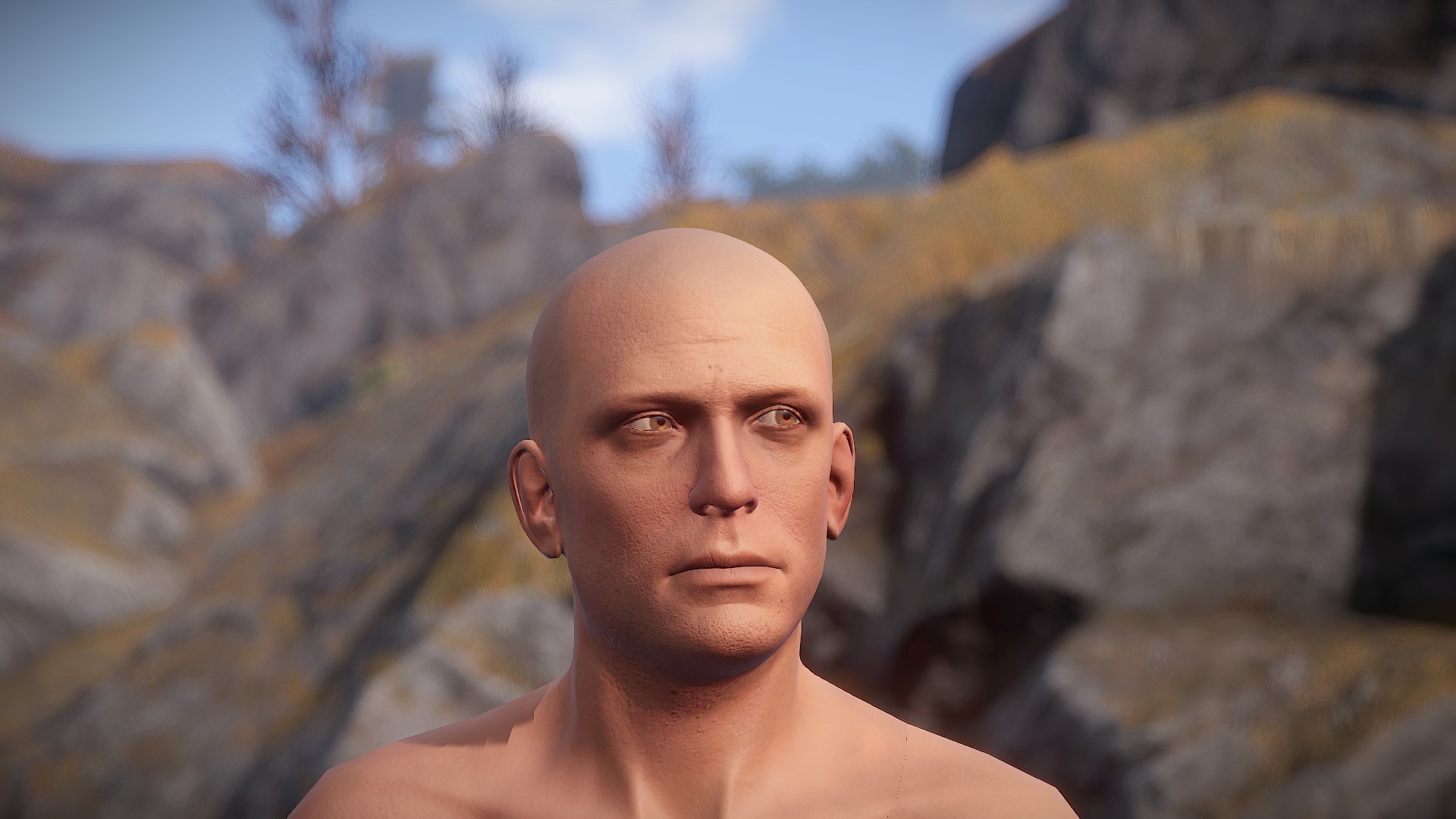 At launch, Rust assigned all players a Caucasian male character.