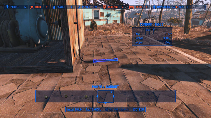Fallout 76 How To Run Wires Through Walls: Fallout 4: How to Use Power Conduits to Power Your Settlement rh:shacknews.com,Design