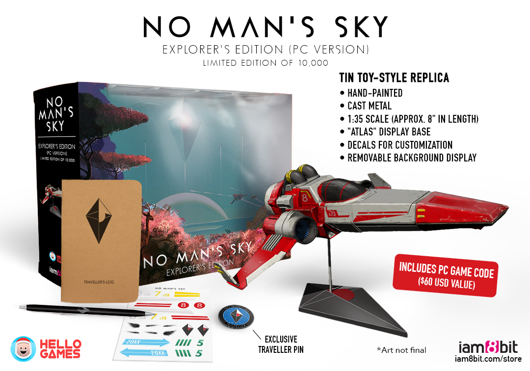no man s sky s special explorer edition is finally here and it s