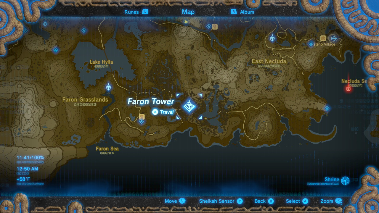 Breath of the Wild Sheikah Tower Locations Faron
