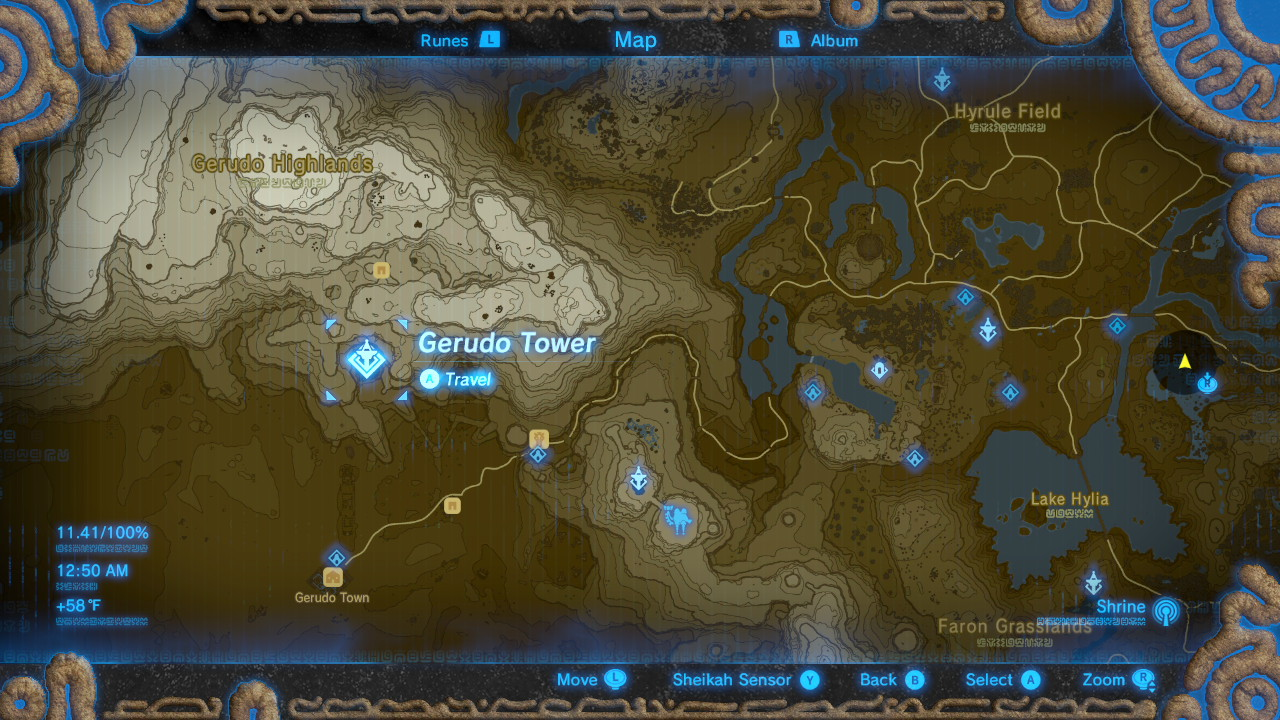Breath of the Wild Sheikah Tower Locations Gerudo