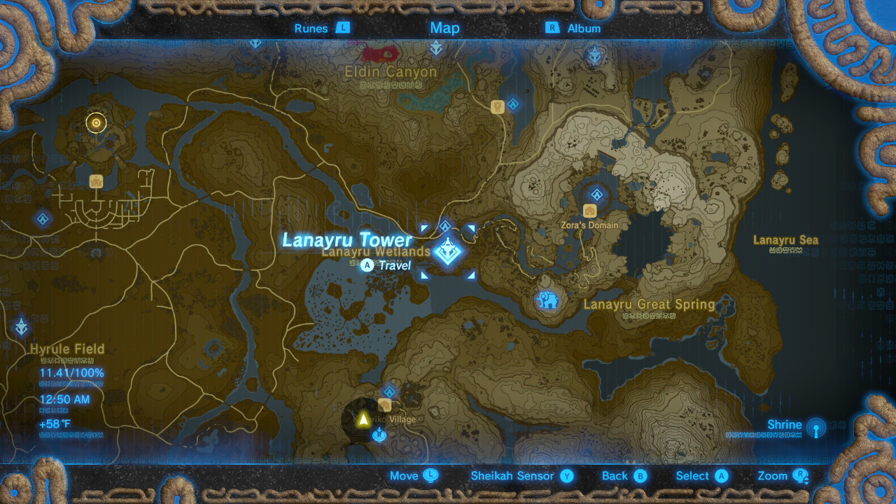 Breath of the Wild Sheikah Tower Locations Lanaryu