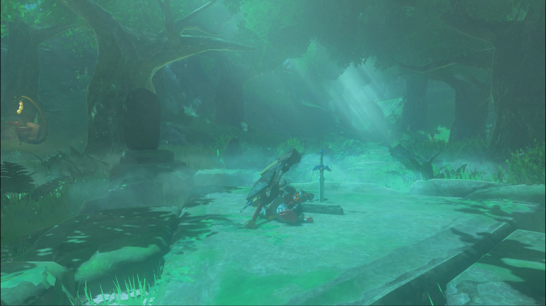 During The Calamity, Zelda Took The Master Sword To The Great Hyrule Forest  Where She Knew The Great Deku Tree Would Protect It. As An Added Safeguard,  ...