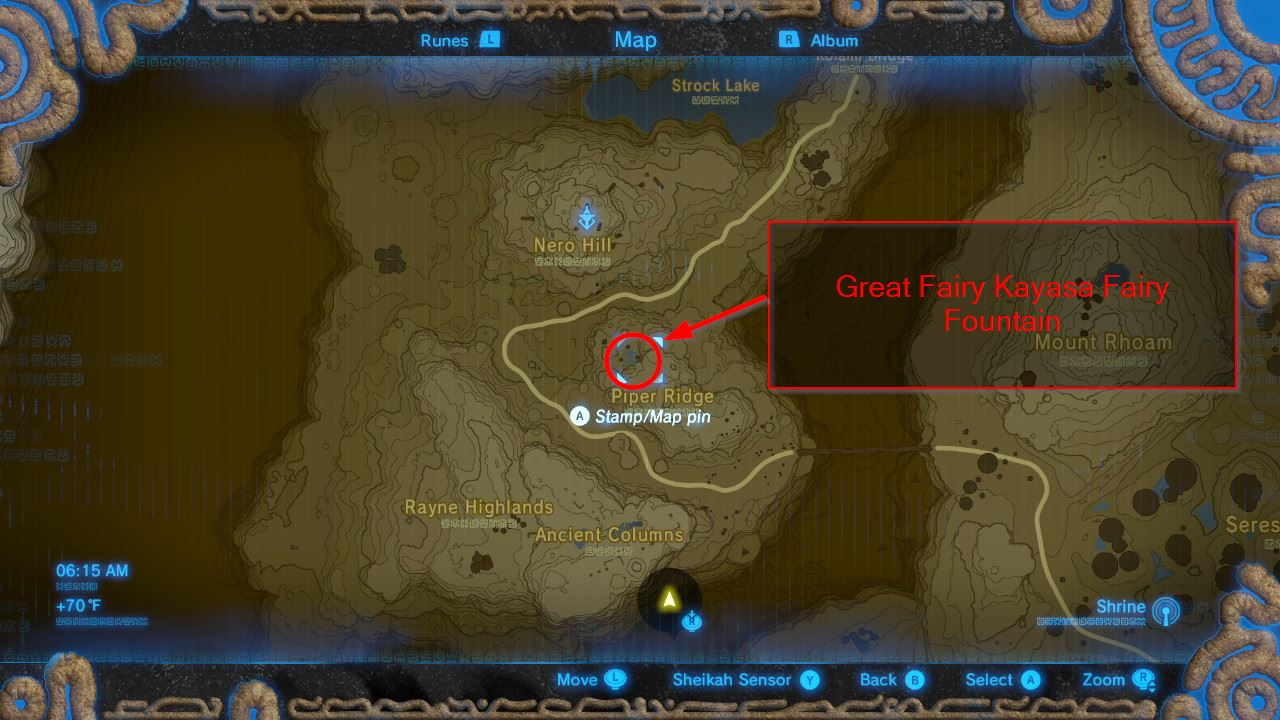 great fairy fountain locations zelda breath of the wild tabantha