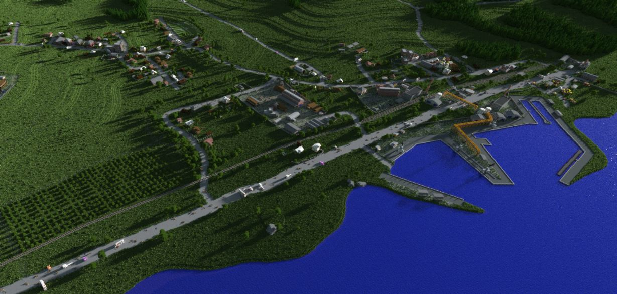 DayZ Map Recreated in Minecraft | Snews Dayz Interactive Map on