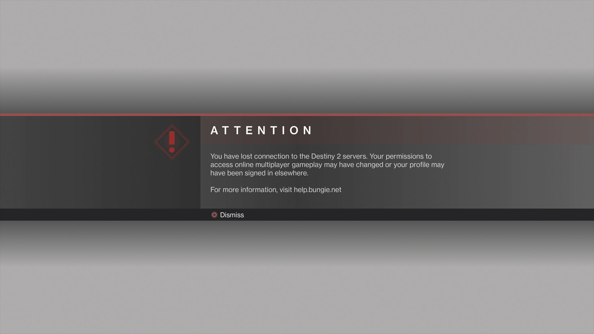 You Have Lost Connection to the Destiny 2 Servers Error