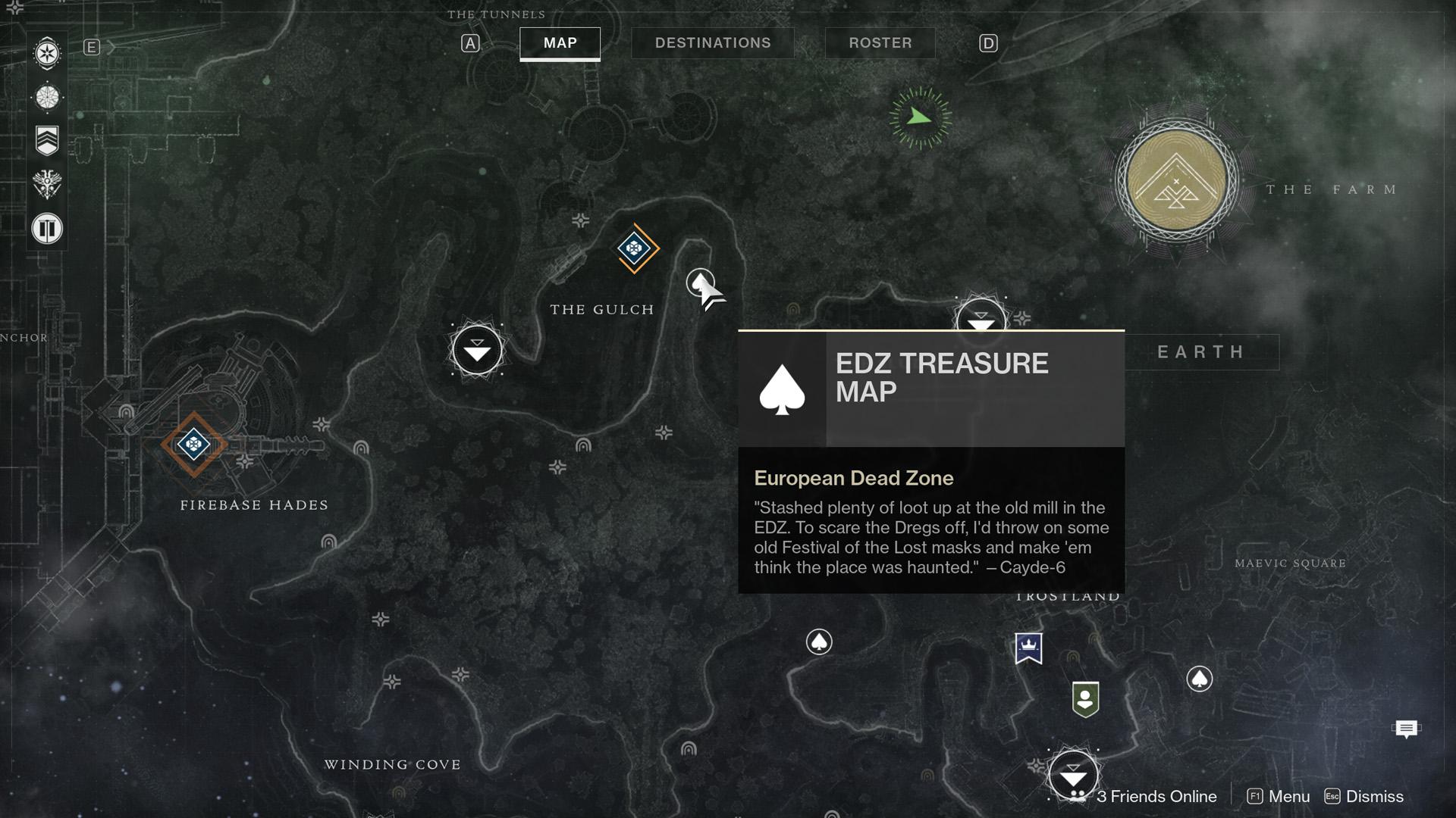 Destiny 2 Cayde 6 Treasure Maps For The Edz On Earth Shacknews