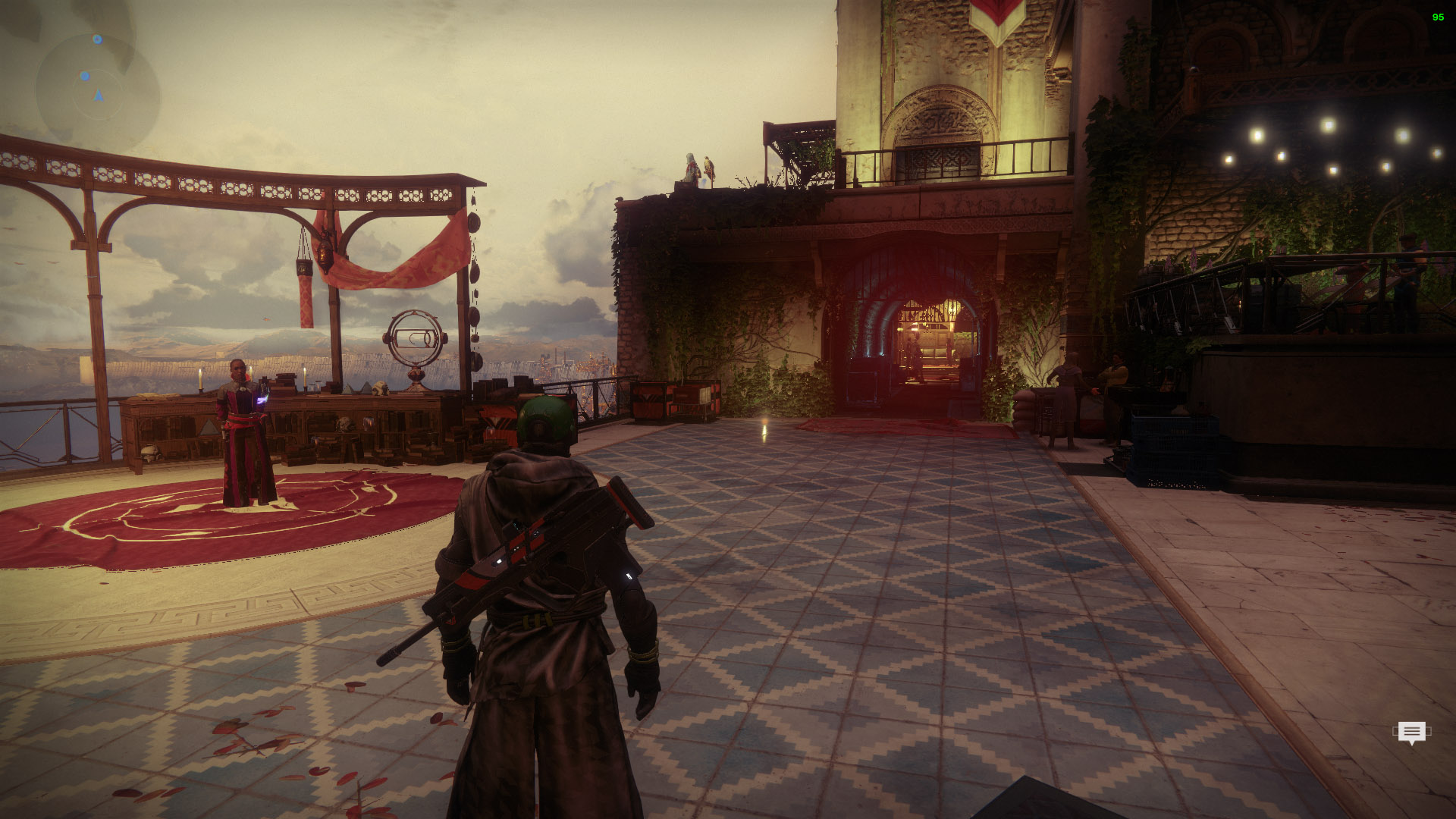 Head to where Ikora stands in the Tower and look for the corridor beneath Hawthorne.
