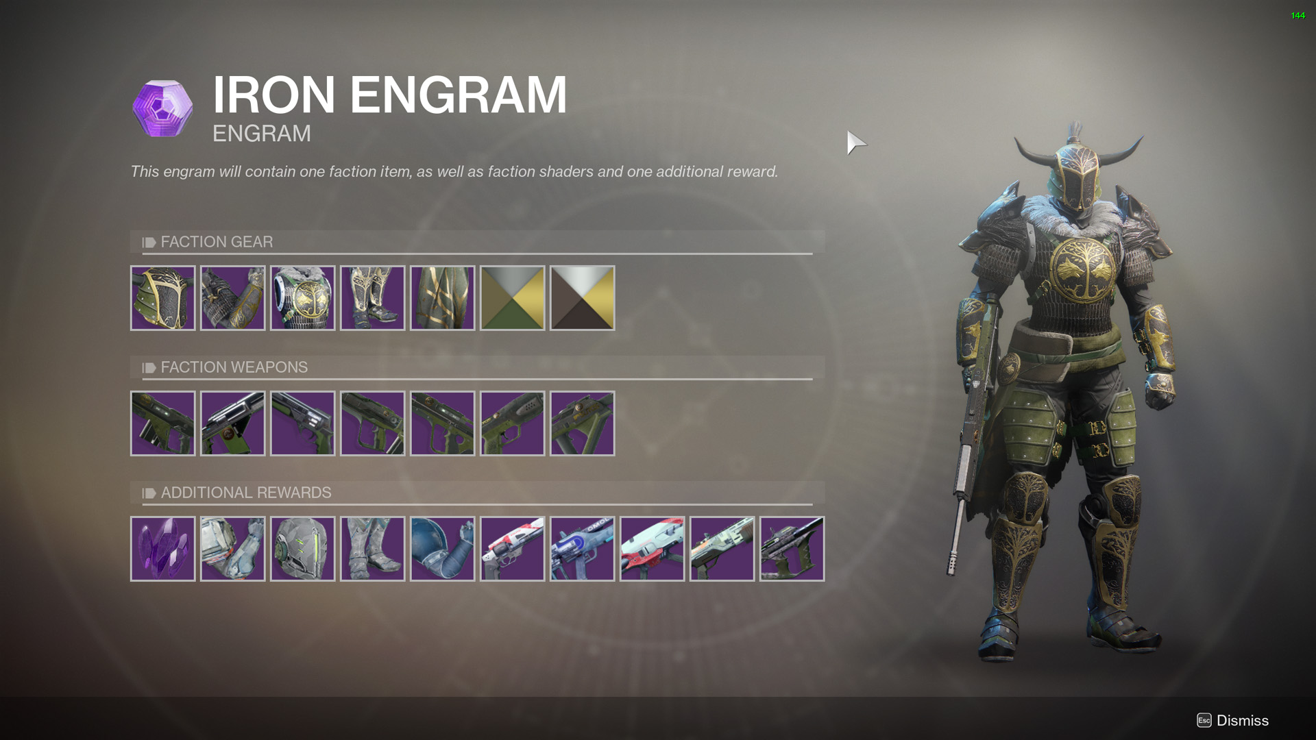 Destiny 2 Iron Banner Packages - All Weapons and Armor