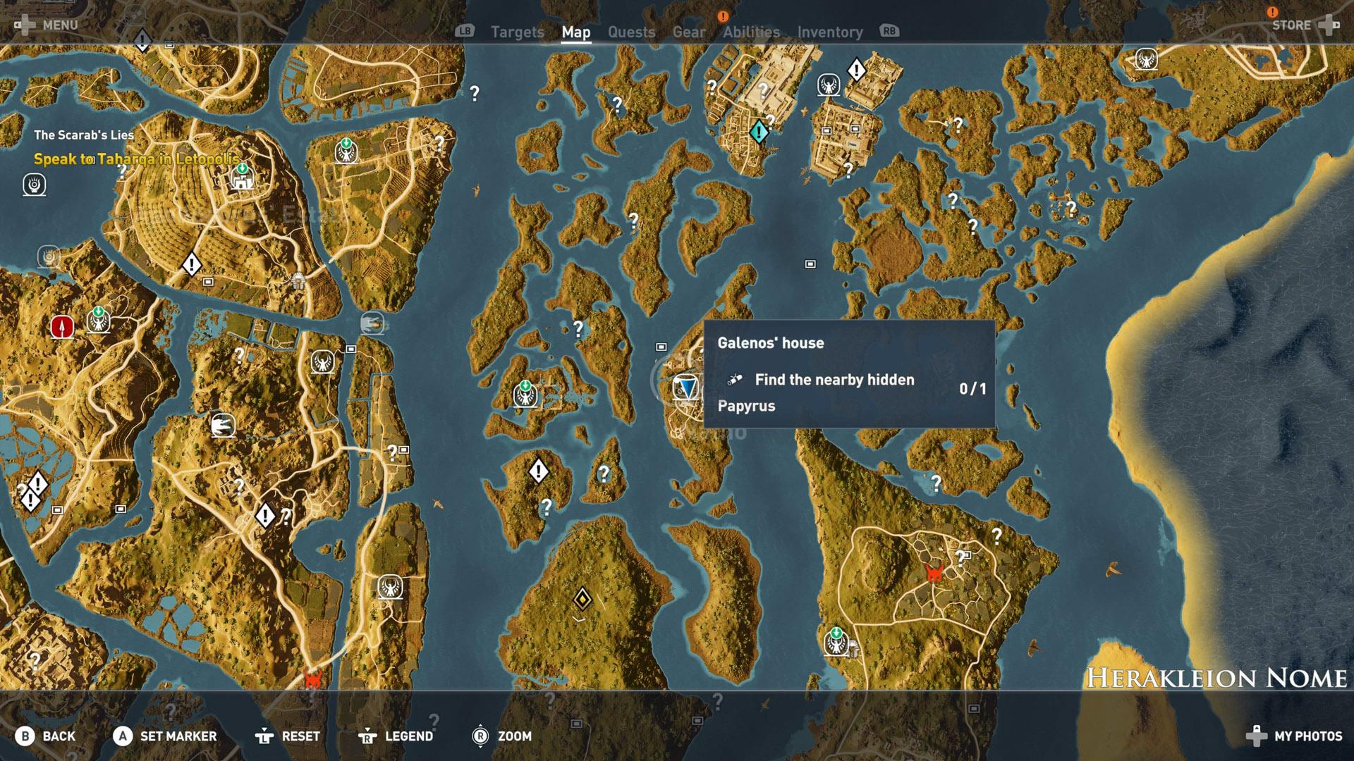 Assassin S Creed Origins All Papyrus Locations Shacknews