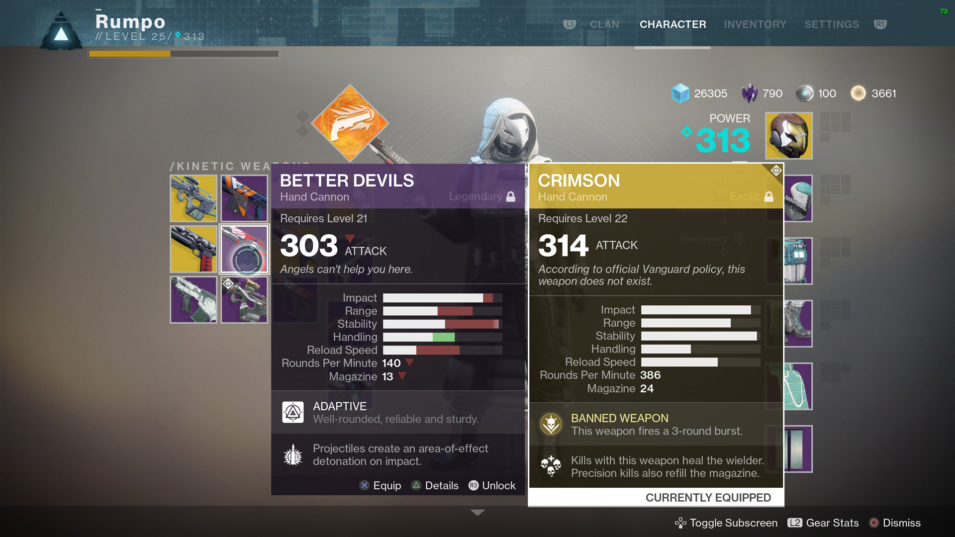 Destiny 2 crimson exotic hand cannon shacknews crimson also has better stats than better devils in almost every category better devils has a bit better handling but gets smashed in every other malvernweather Images