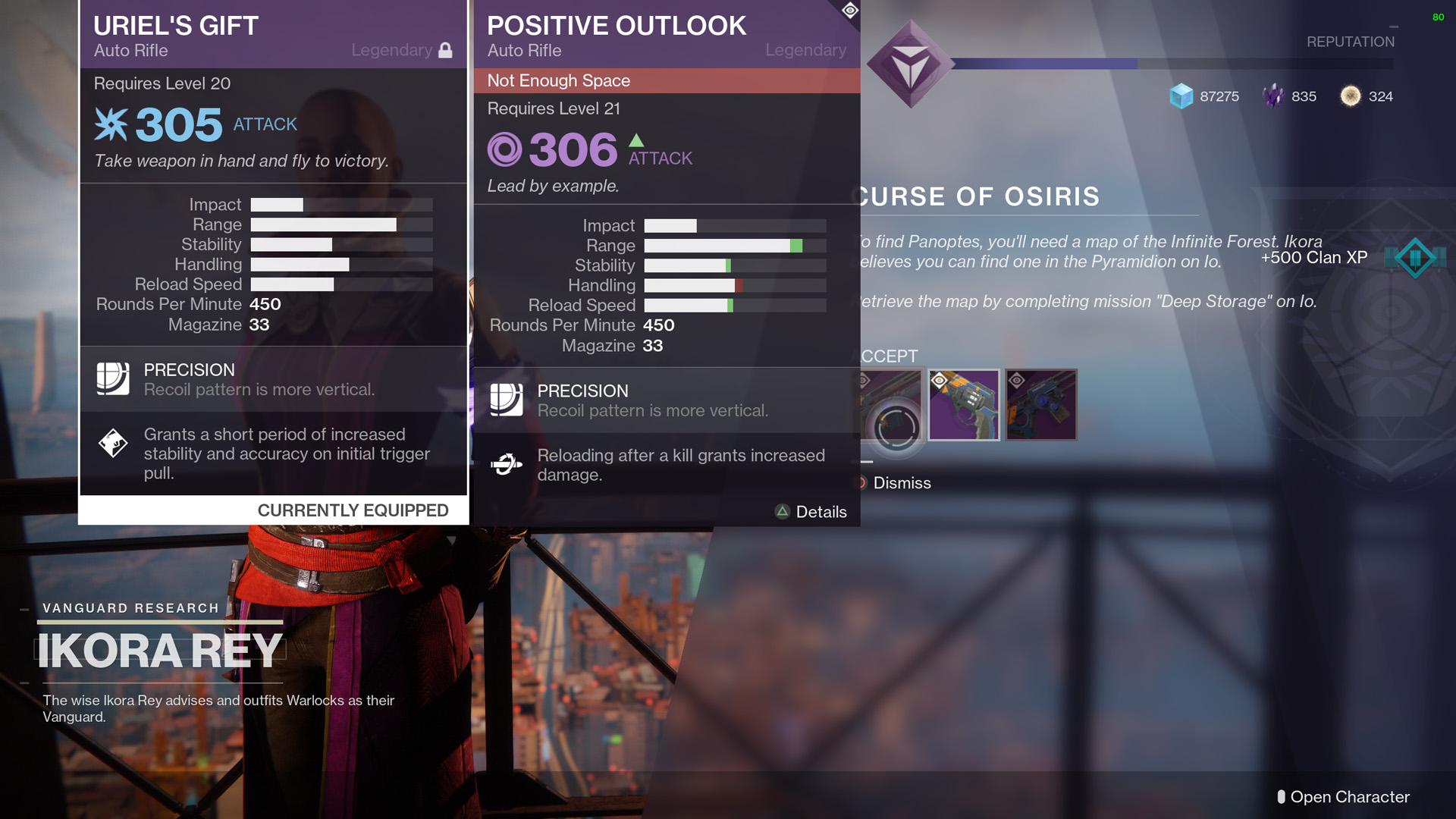 The Positive Outlook Is Very Similar To One Of Best Auto Rifles In Game Uriels Gift Fact They Have Same Impact Rating And Both Are Built