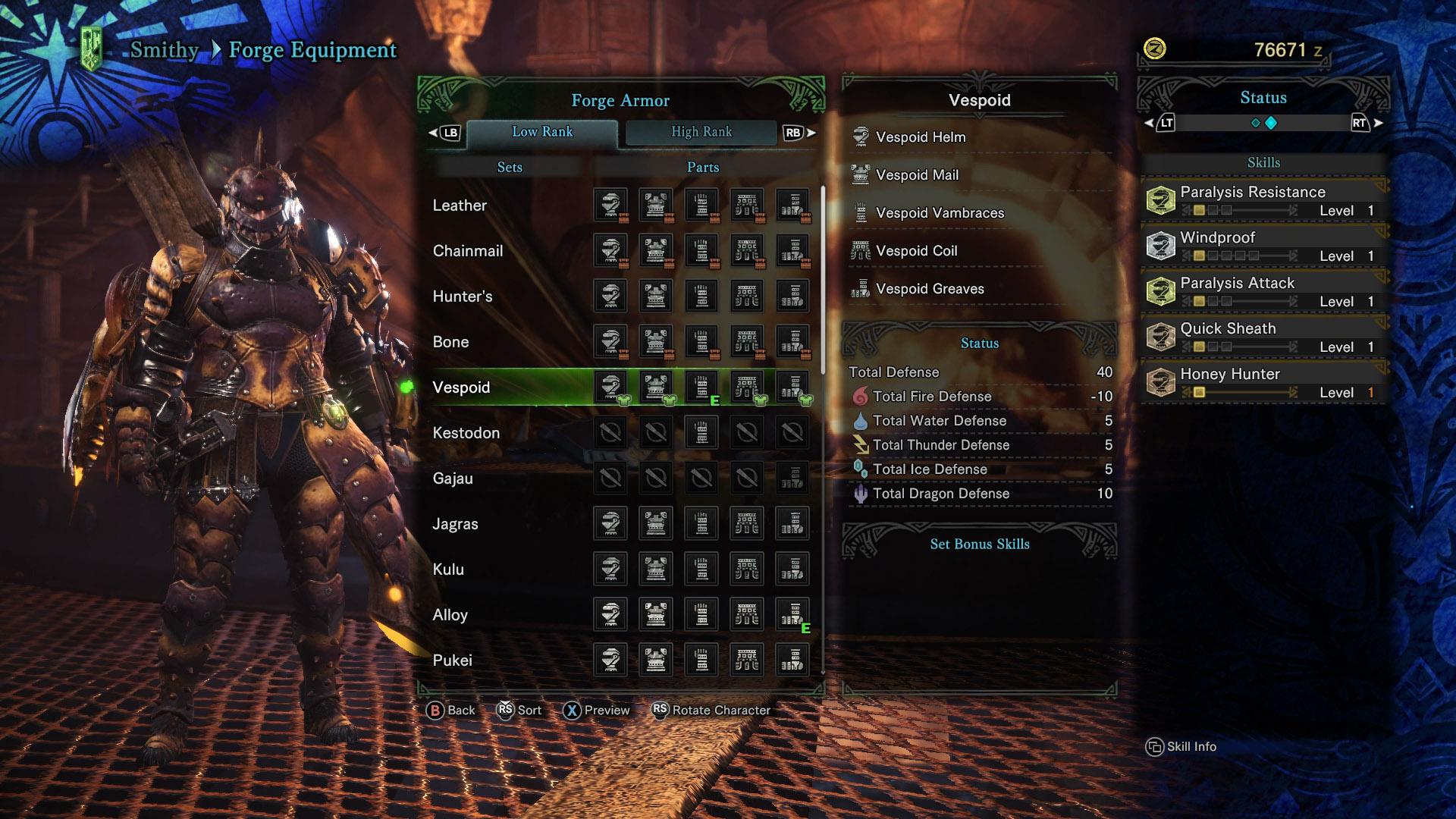 Old Rathalos Armor