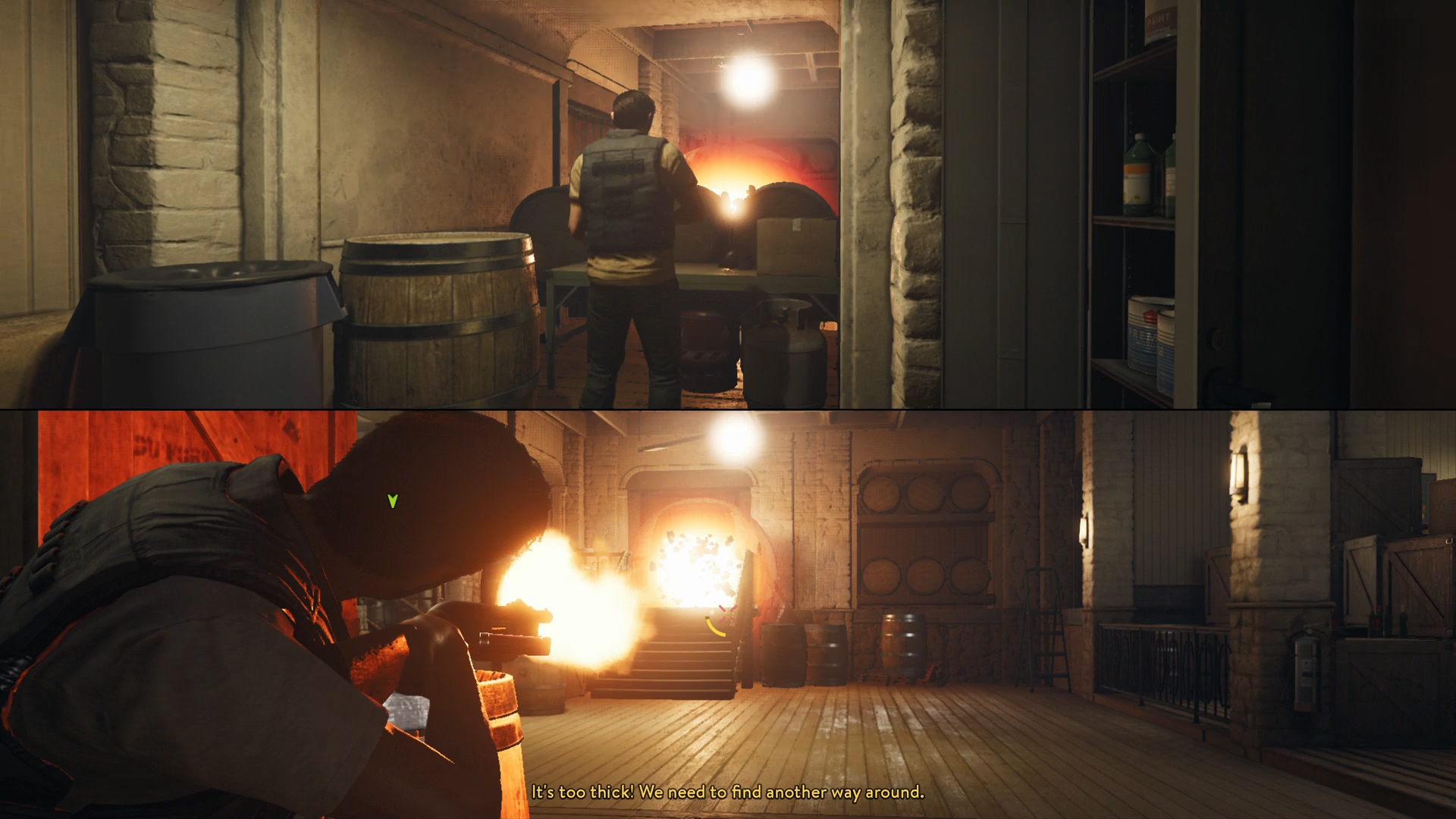 A Way Out Chapter 4 Vengeance Shacknews Two Switch Doesnt Work As You Enter The Mansion Hostiles Will Block Door And Begin Shooting Through Holes Your