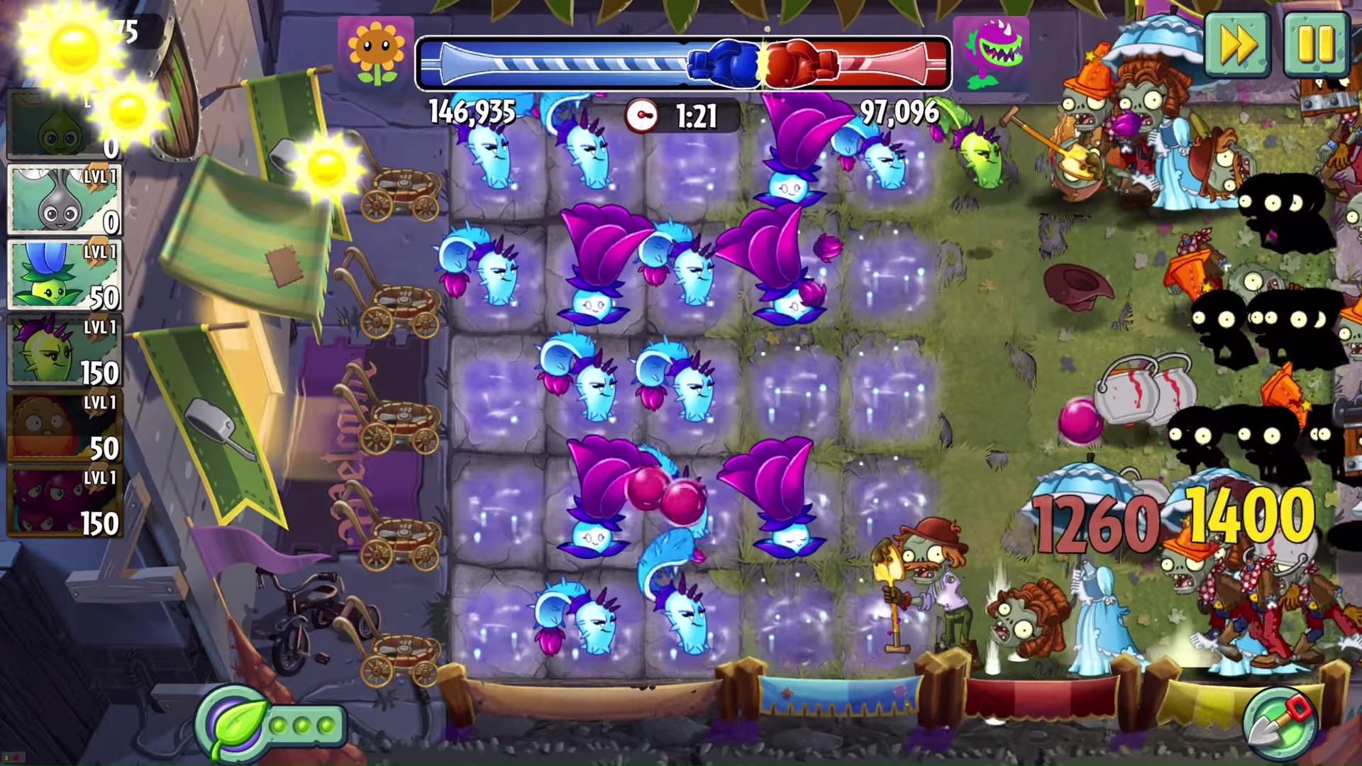 plants vs zombies 2 introduces pvp battlez shacknews