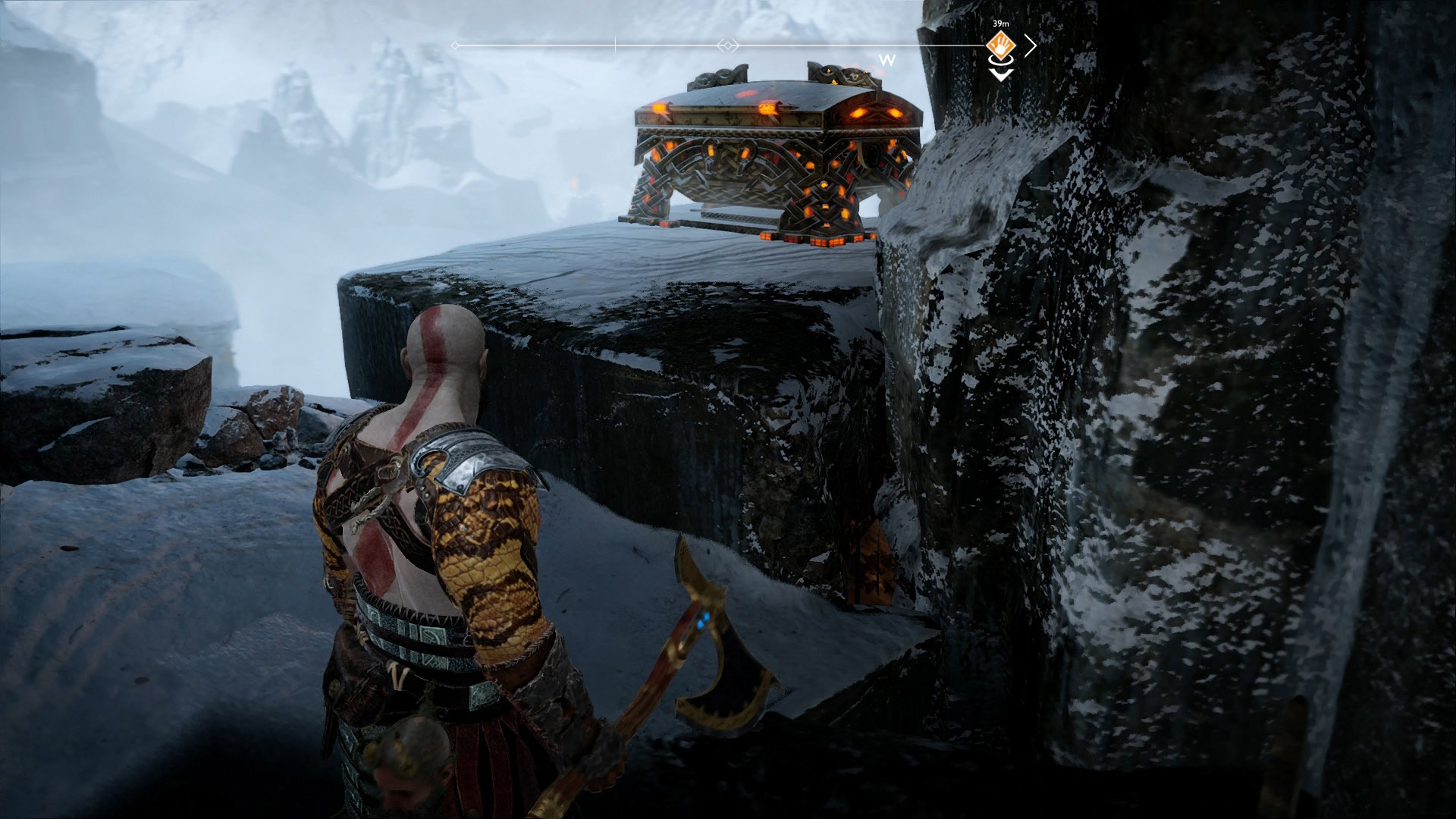 stone falls god of war