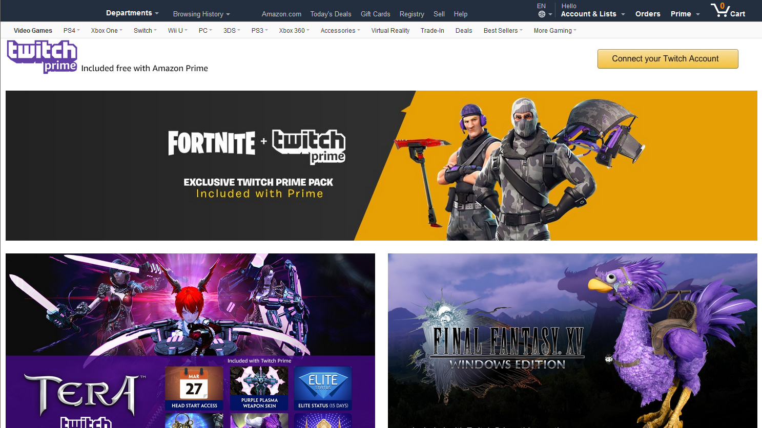 Amazon Twitch Prime how to sign up