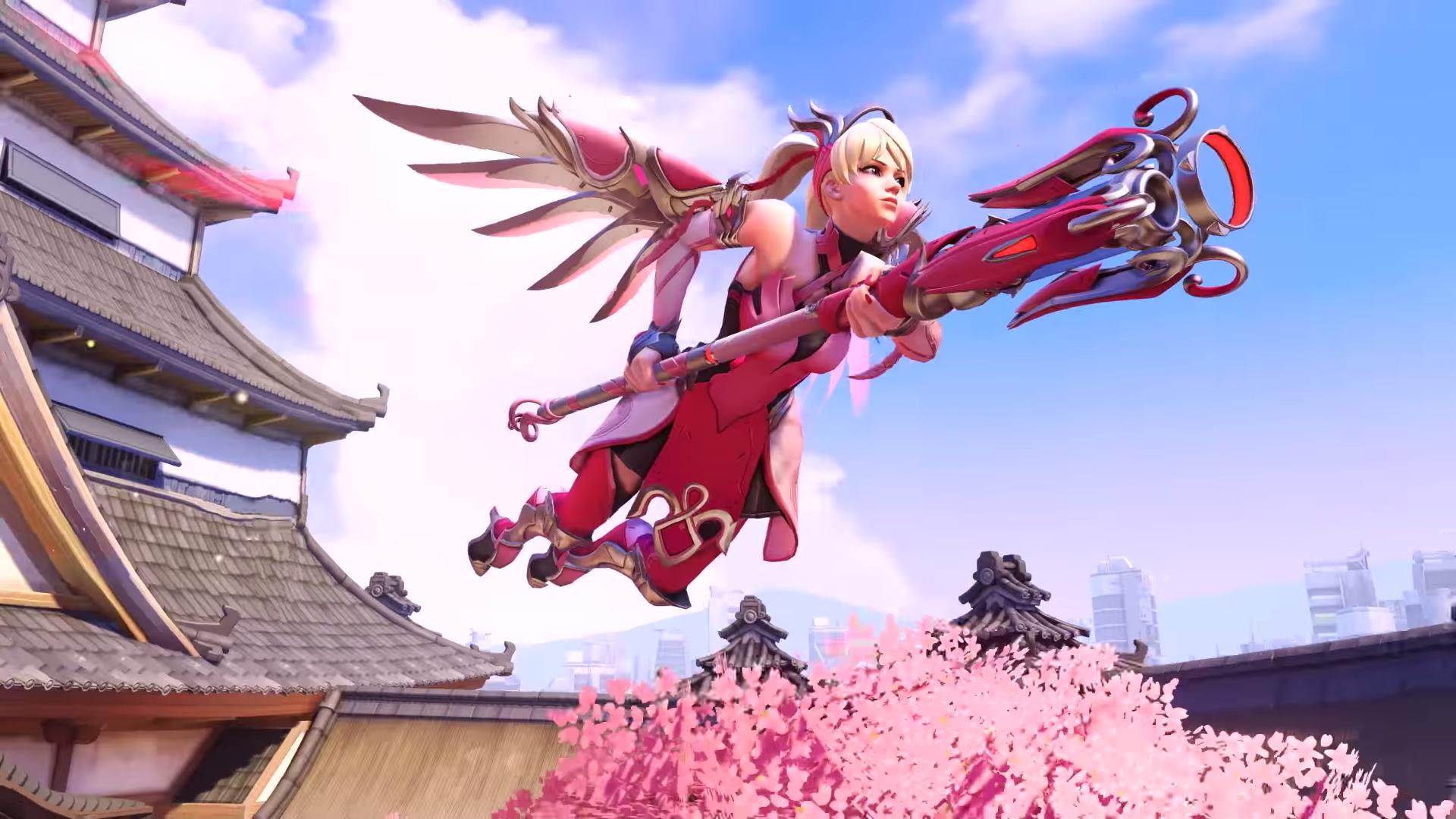 Overwatch Pink Mercy Skin