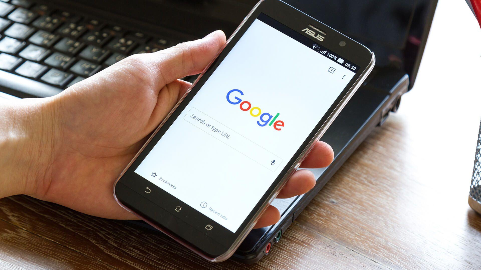 Google search app facebook