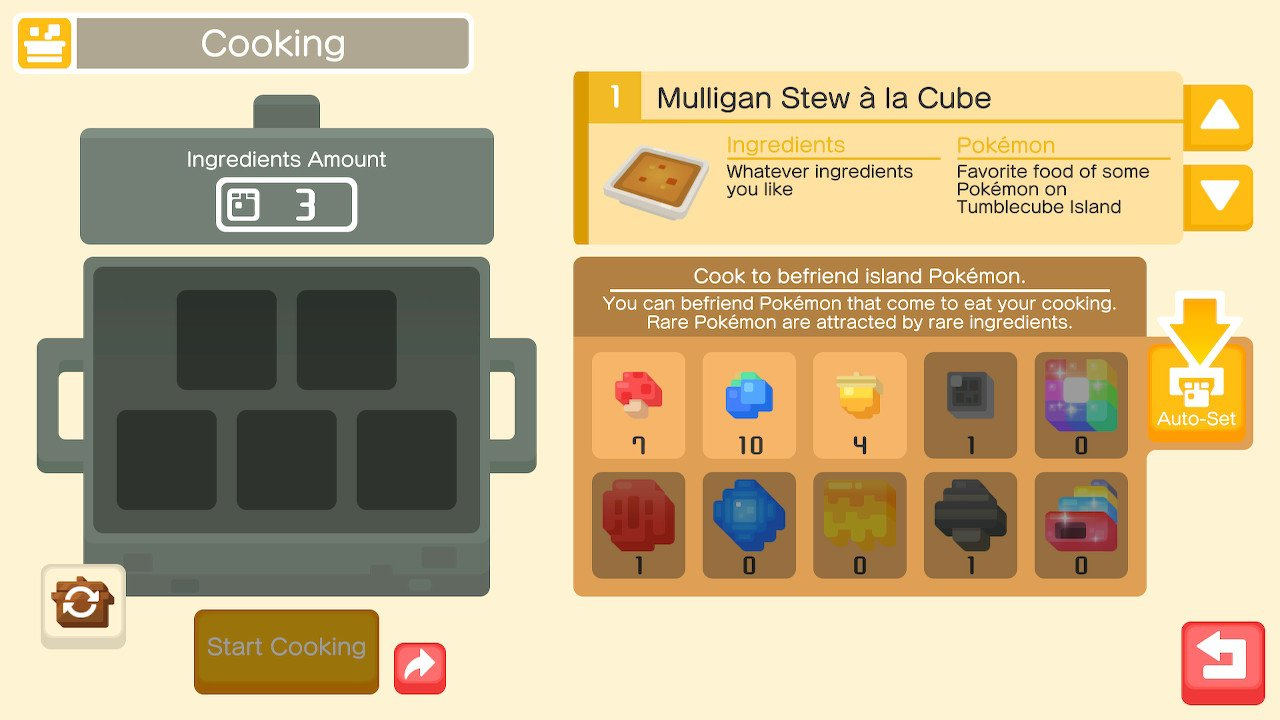 Cooking Ingredients And Recipes In Pokemon Quest Shacknews