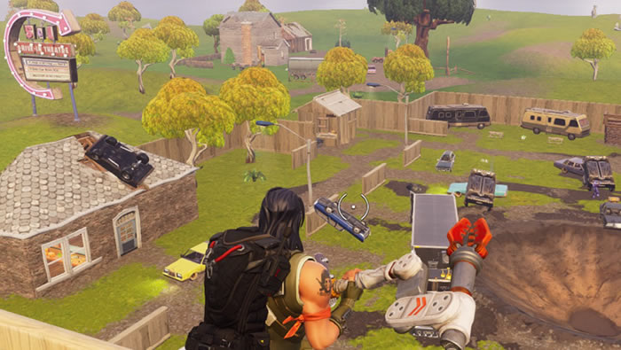 in the area north of tomato town fortnite players will now find a new drive in style movie theater called risky reels there really wasn t much in the area - fortnite season 4 start date