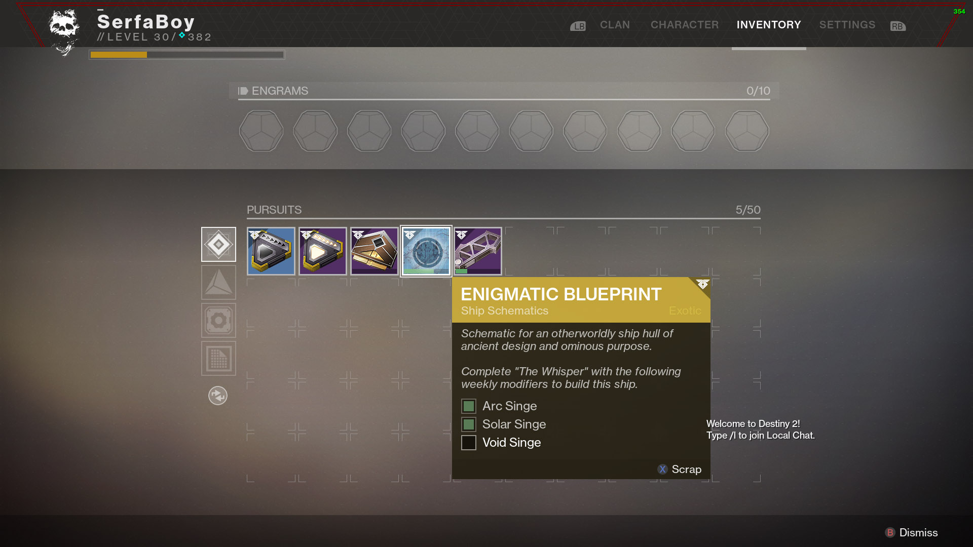 How to Get the Enigmatic Exotic Ship Blueprint in Destiny 2