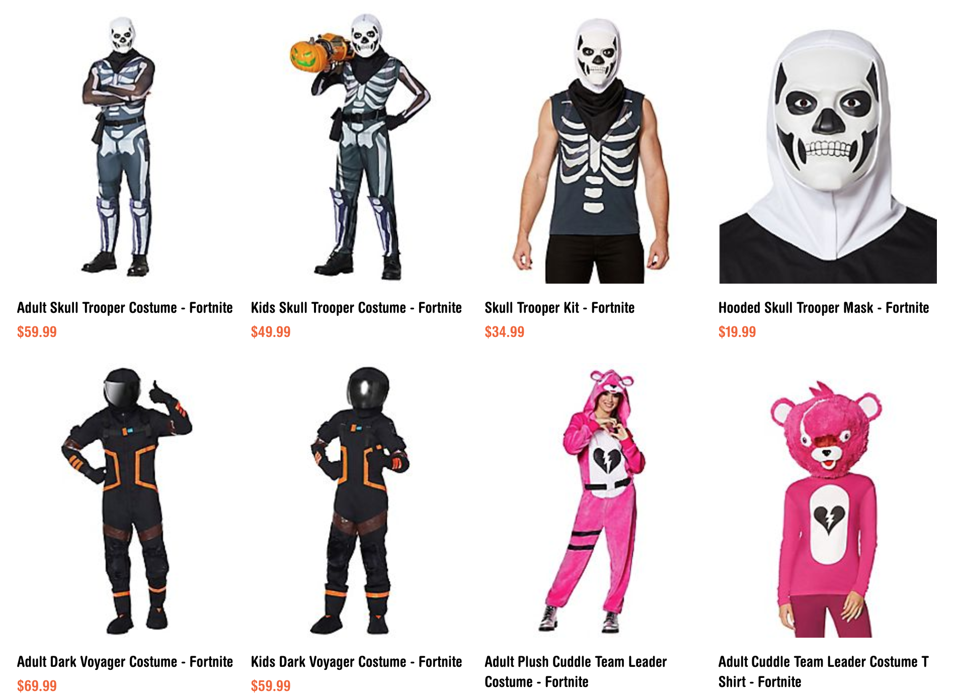 Halloween Fortnite Characters.Dress Up Like Your Favorite Fortnite Characters This